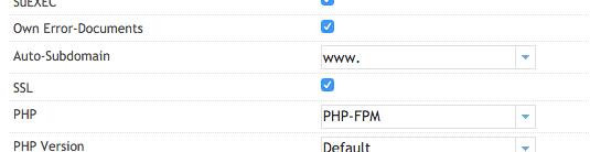 Enabling the SSL checkbox